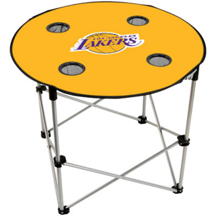 Los Angeles Lakers Folding Table with Cup Holders OEM-820052
