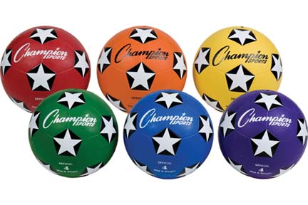 Champion Sports Size 4 Soccer Balls - Set of 6
