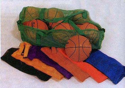 """36"""" Athletic Mesh Duffel Bag - Green (Set of 2)"""