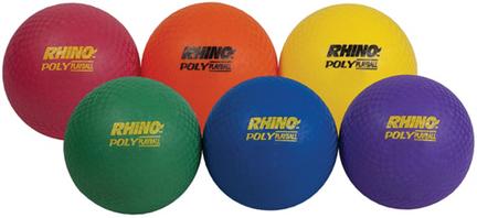 "4"" Rhino Poly Playground Balls - Set of 6"