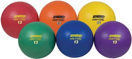 "13"" Rhino Poly Playground Balls - Set of 6"