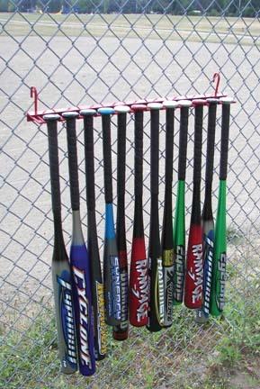 Fence Hook On Bat Rack...12 Bat Model (Set of 2)