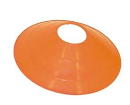 "7 3/4"""" Orange Saucer Field / Half Cone Markers - 1 Dozen"" OLY-CO040P-3"
