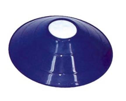"""7 3/4"""" Blue Saucer Field / Half Cone Markers - 1 Dozen"""