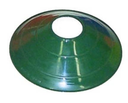 """7 3/4"""" Green Saucer Field / Half Cone Markers - 1 Dozen"""
