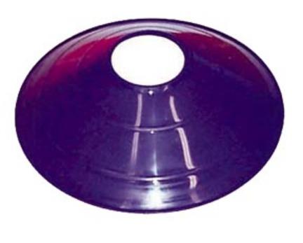 "7 3/4"" Purple Saucer Field / Half Cone Markers - 1 Dozen"