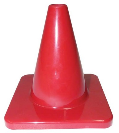 "6"" Red Heavy Weight Cones - Set of 6"