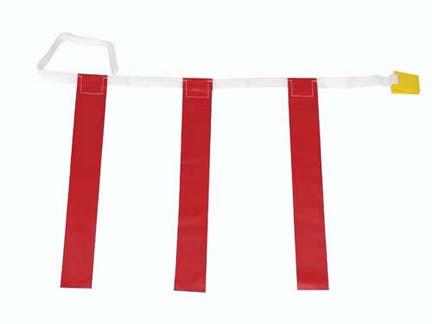 Youth Triple Red Flag Football Set - 1 Dozen
