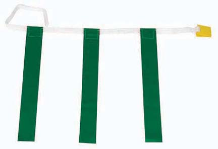 Youth Triple Green Flag Football Set - 1 Dozen