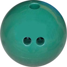 5 lb. Dark Green Rubberized Plastic Bowling Ball from Cosom®