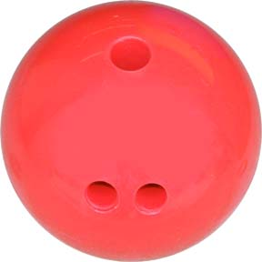 3 lb. Pink Rubberized Plastic Bowling Ball from Cosom®