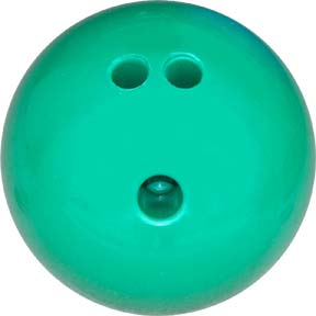 3 lb. Green Rubberized Plastic Bowling Ball