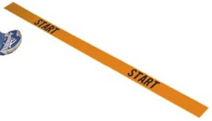 "4' Poly ""Start"" Lines (Orange) - Set of 2"