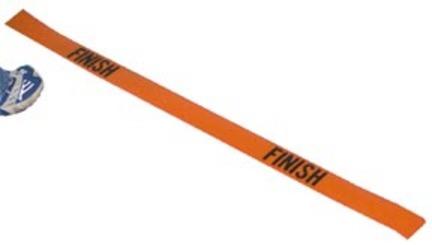 """4' Poly """"Finish"""" Lines (Orange) - Set of 2"""