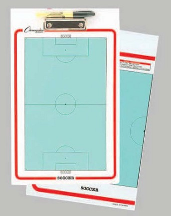 """Soccer 10"""" x 16"""" Coaches Clipboard (Set of 4)"""
