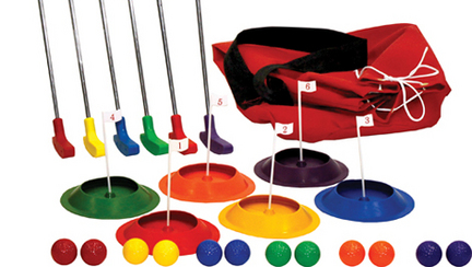 "12-Player Putt Golf Set with 29"""" Putters"" OLY-GF104P-3"