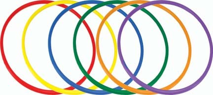 """36"""" Deluxe Colored Hoops"""