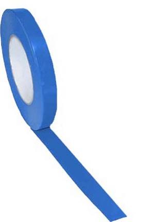 "1/2"" Width Gym Floor Blue Vinyl Plastic Marking Tape - Set of 25 Rolls"