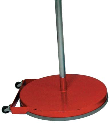 """Red 24"""" Dome Game Standards with Wheels (One Pair)"""