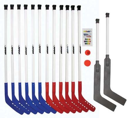 "42"" Shield Deluxe Hockey Set with 2 Goalie Hockey Sticks"