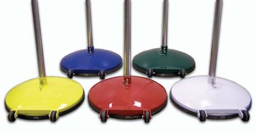 Multi-Purpose Weighted Game Standards with 145 lb. Bases (One Pair)