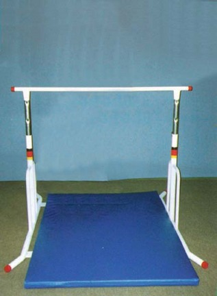 """Free Standing 60"""" Youth High Horizontal Bar with Institutional Galvanized Finish"""