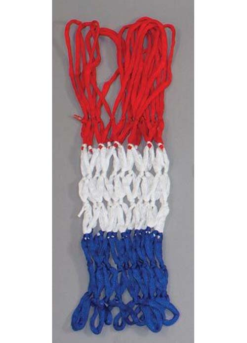 """21"""" Heavy Duty Institutional Basketball Nets - Red, White and Blue - Set Of 15"""