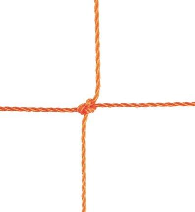 """2.5 mm Junior Twisted 5"""" Square Polyethylene Netting...Orange"""