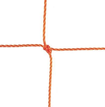 "3.5mm Official Braided 5"" Square Polyethylene Netting...Orange"