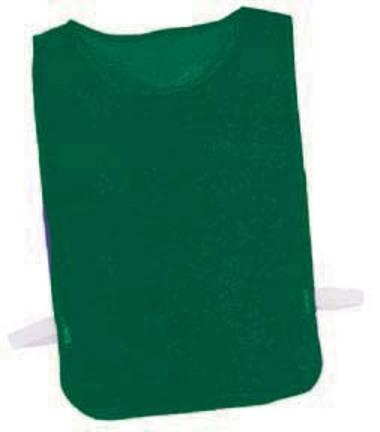 Youth Green Nylon Mesh Pinnies - 1 Dozen