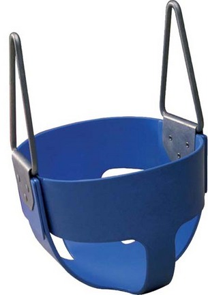 Enclosed Blue Rubber Swing Seat