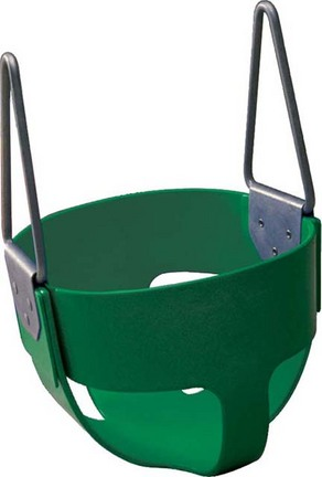 Enclosed Green Rubber Swing Seat