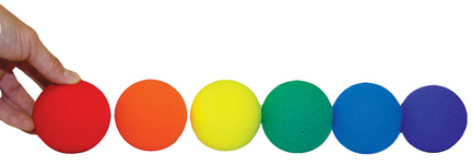 Rainbow Hi-Bounce Baseballs - Set of 6 OLY-PS637P-3