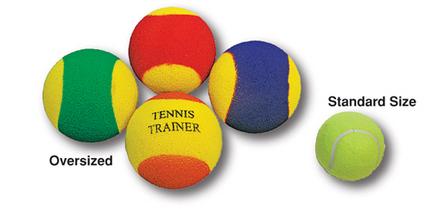 Oversize Tennis Trainer Balls - 1 Dozen
