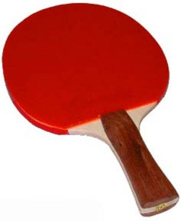 Deluxe 7-Ply Flared Handle Table Tennis Paddles - Set of 4