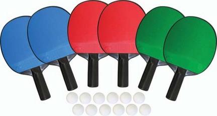 6-Player Table Tennis Set