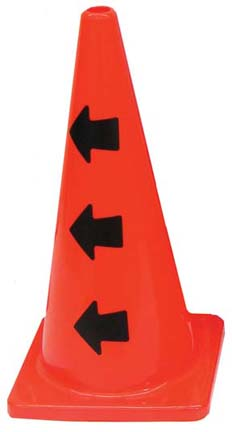 """28"""" Message Cone with Left Arrows (Set of 2)"""