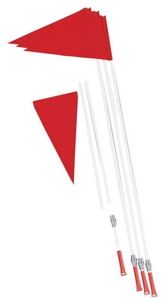 Coil Spring-Mounted Corner Soccer Flags - Set of 4 Flags
