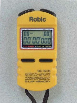 Robic SC-505 1/1000th Second Sports Chronometer...Yellow (Set of 2)