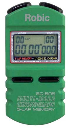 Robic SC-505 1/1000th Second Sports Chronometer...Green (Set of 2)
