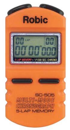Robic SC-505 1/1000th Second Sports Chronometer...Orange (Set of 2)
