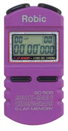 Robic SC-505 1/1000th Second Sports Chronometer...Purple (Set of 2)
