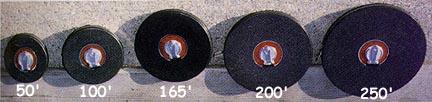 100' (30 Meters) Fiberglass Measuring Tape with Closed Reel (Set of 3)