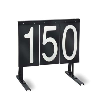 Practice Range Sign (Black with White Numbers)