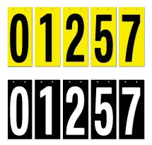 Practice Range Sign (Individual Yellow Numbers)