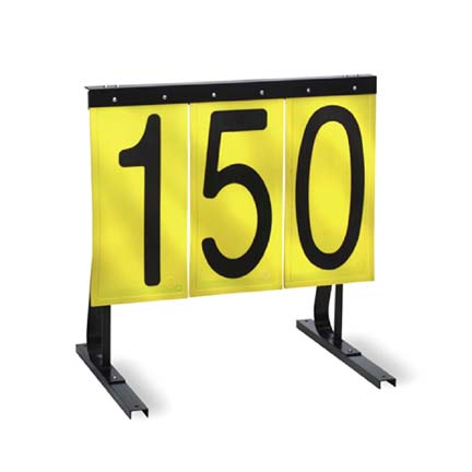 Practice Range Sign (Yellow with Black Numbers)