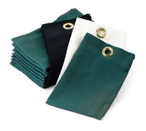 Black Trifold Cotton Tee Towels - 1 Dozen