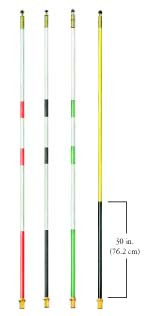 8 ft. Striped Regulation Fiberglass Flagsticks - Set of 9