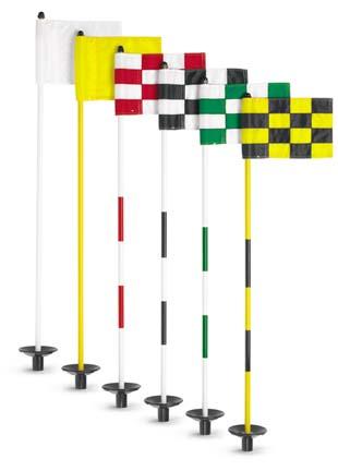 Jr. Flagstick Practice Green Marker / Checkered Flag Sets (Green) - Set of 9