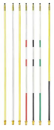 7 ft. Striped Regulation Fiberglass Flagsticks (Bright Yellow/Black) - Set of 9